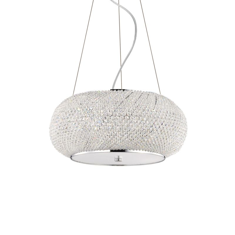 IdealLux-082158 - Pasha - Crystal with Chrome 6 Light Hanging Pendant