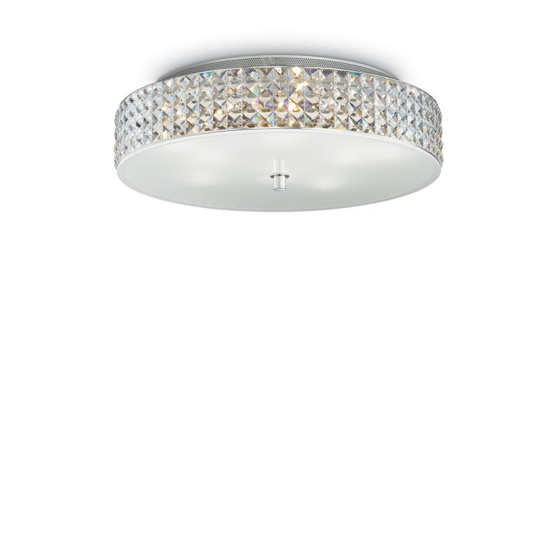 IdealLux-087863 - Roma - Crystal with Glass Diffuser 9 Light Ceiling lamp