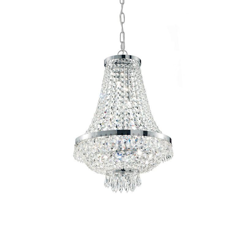 IdealLux-033532 - Caesar - Crystal with Chrome 6 Light Chandelier