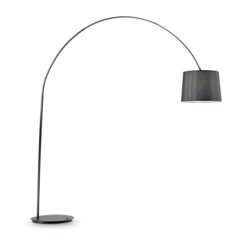IdealLux-091983 - Dorsale - Black Fabric and Metal Floor Lamp