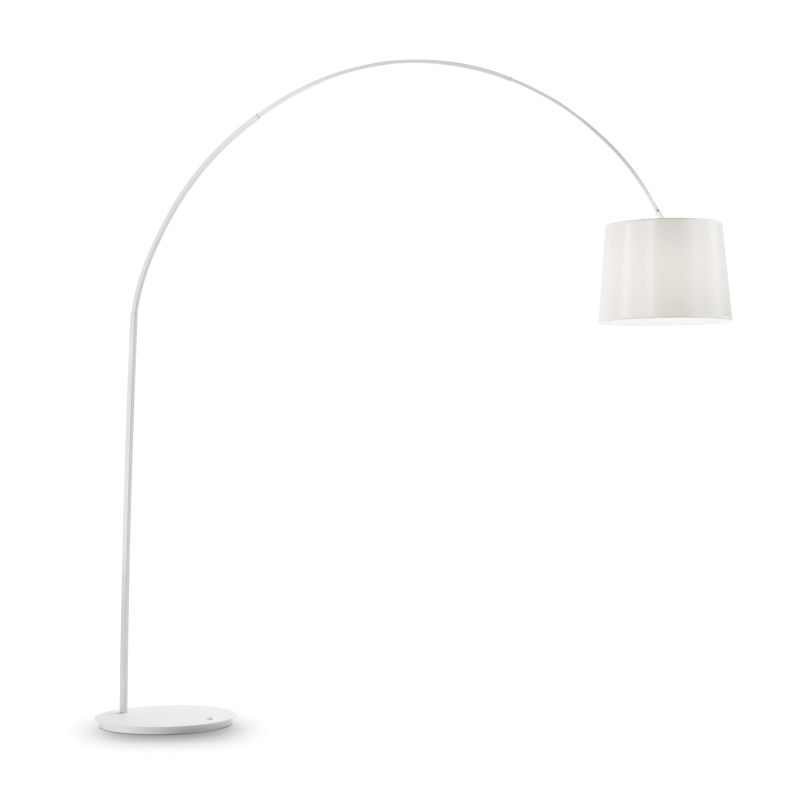 IdealLux-095127 - Dorsale - White Fabric and Metal Floor Lamp