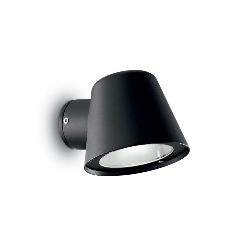 IdealLux-020228 - Gas - Outdoor Black with Glass Wall Lamp