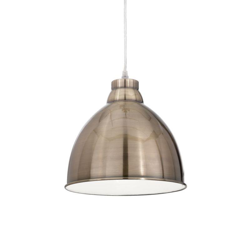 IdealLux-020723 - Navy - Antique Brass Metal Single Hanging Pendant
