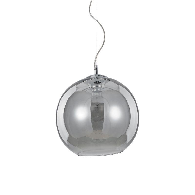 IdealLux-094236 - Nemo - Smoky Glass Globe with Chrome Single Pendant -Ø30