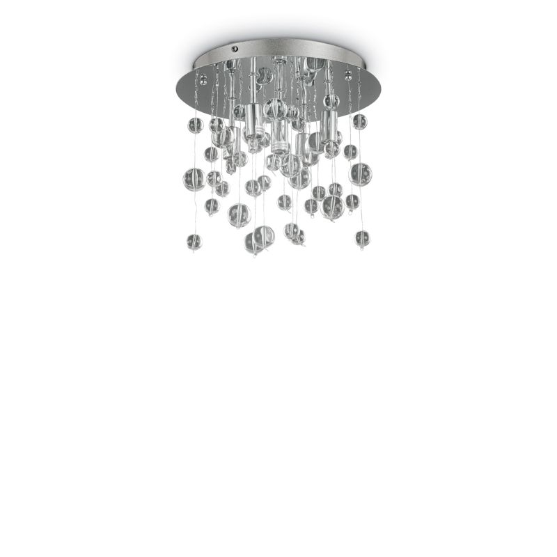 IdealLux-094687 - Neve - Crystal with Chrome 5 Light Ceiling Lamp