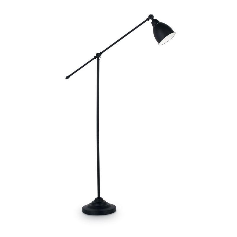 IdealLux-003528 - Newton - Adjustable Black Floor Lamp