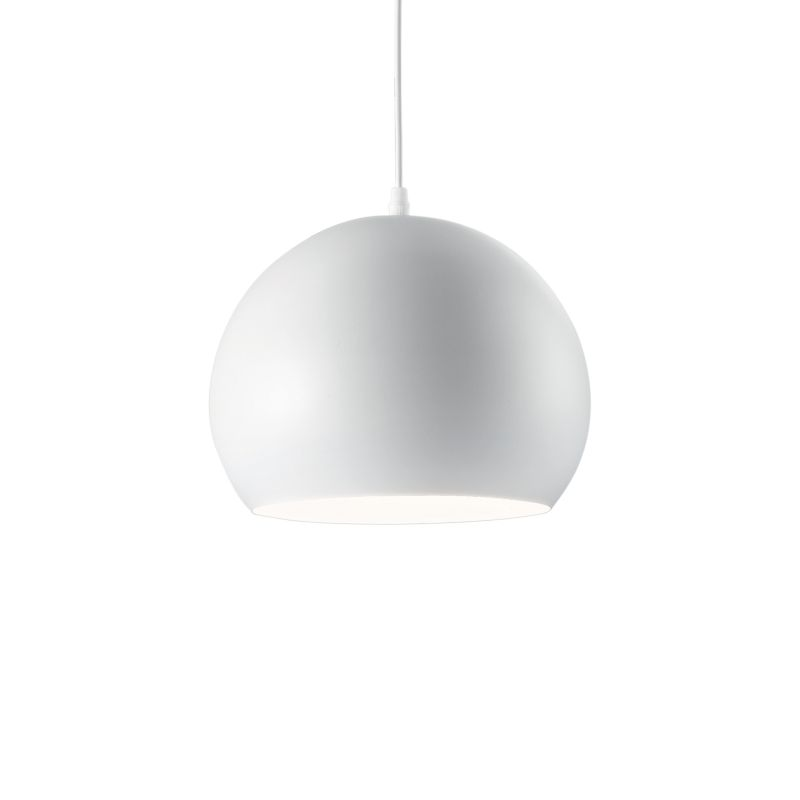 IdealLux-005218 - Pandora - Matt White Metal Single Hanging Pendant