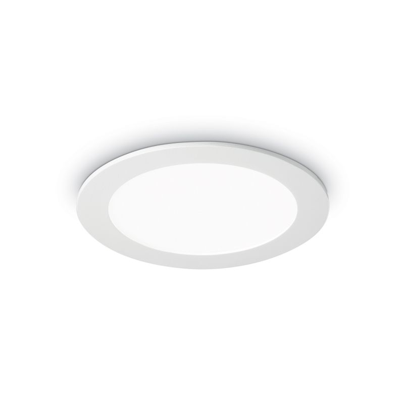 IdealLux-123974 - Groove - LED Round White Recessed Ceiling Light 700LM