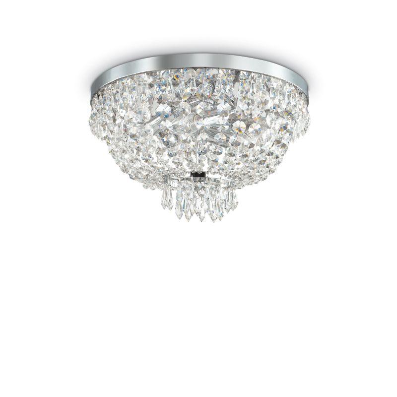 IdealLux-103792 - Caesar - Crystal with Chrome 5 Light Ceiling Lamp