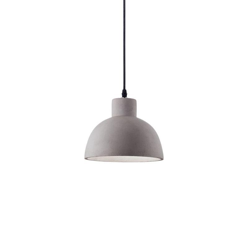 IdealLux-129082 - Oil - Grey Concrete Single Hanging Pendant