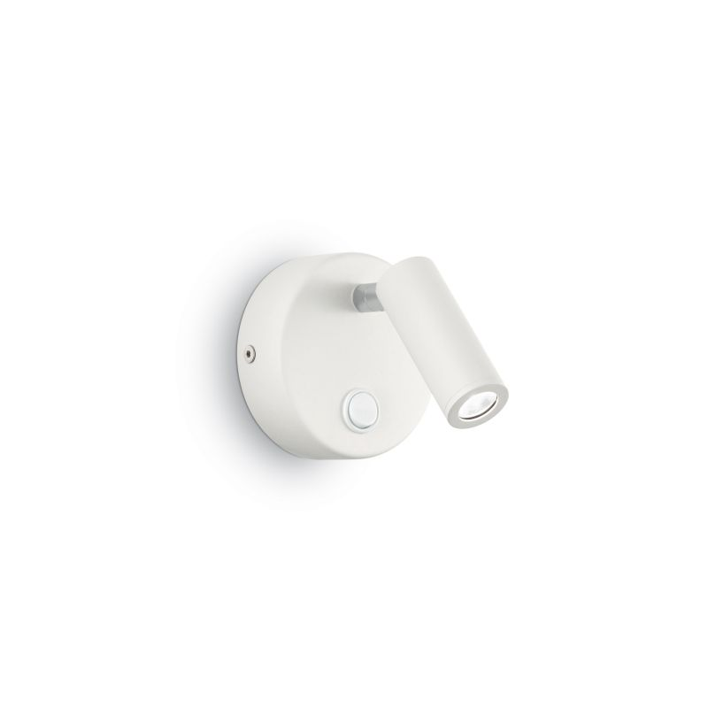 IdealLux-142586 - Page - White Round LED Bed Side Wall Lamp