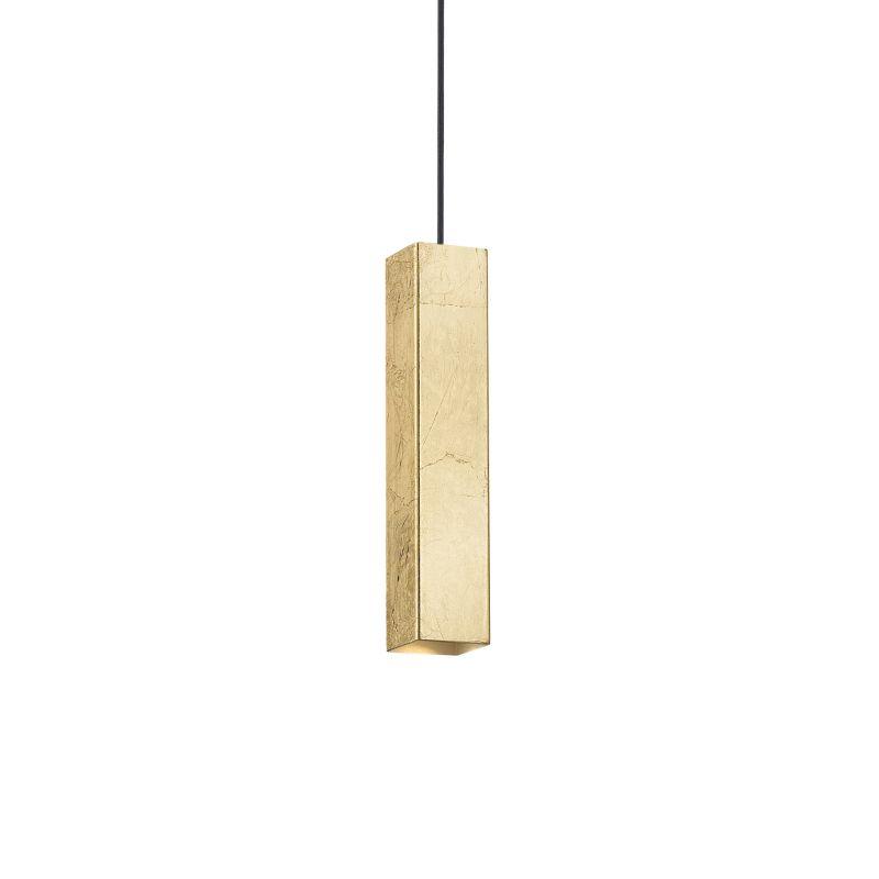 IdealLux-136936 - Sky - Gold Metal Rectangle Single Pendant
