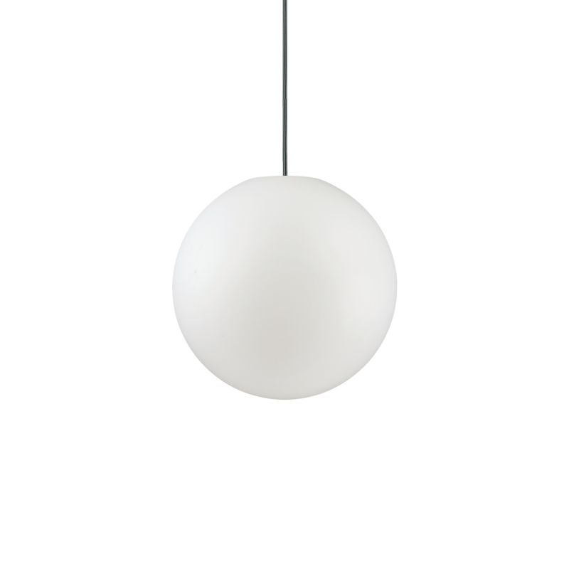 IdealLux-135991 - Sole - Small Outdoor White Globe Single Hanging Pendant
