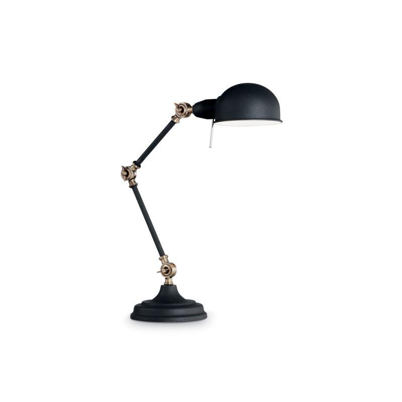 IdealLux-145211 - Truman - Adjustable Black with Brass Desk Lamp