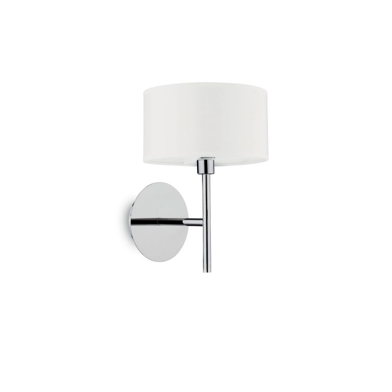 IdealLux-143156 - Woody - White Fabric with Frosted Glass Wall Lamp
