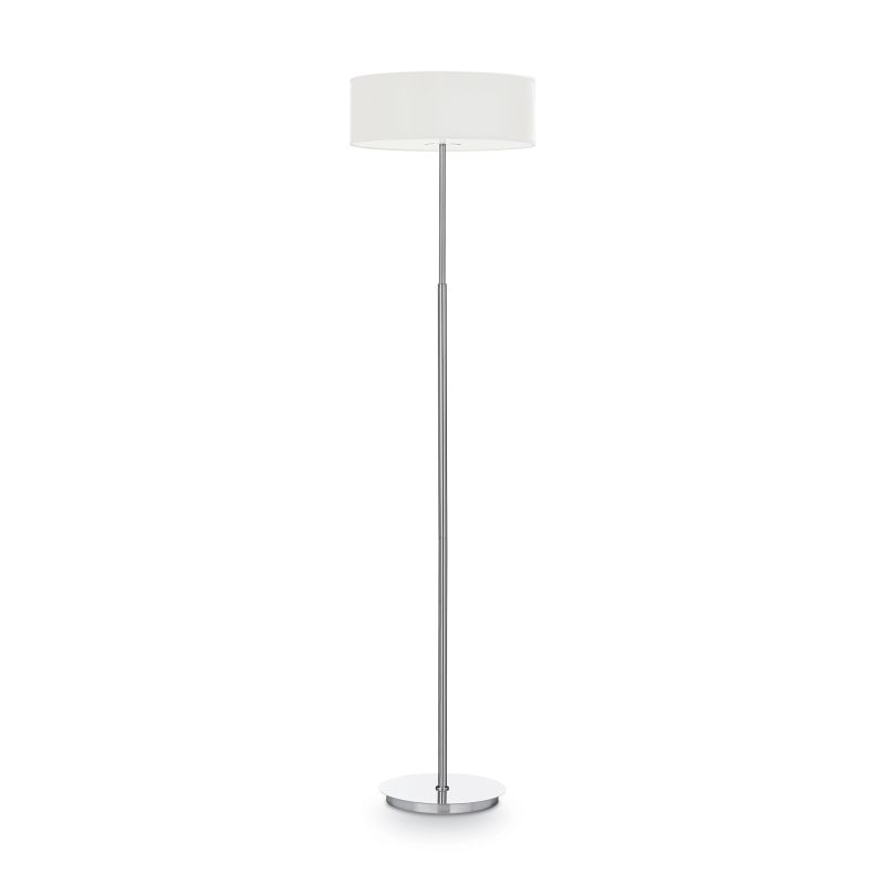 IdealLux-143163 - Woody - White Fabric with Frosted Glass Floor Lamp