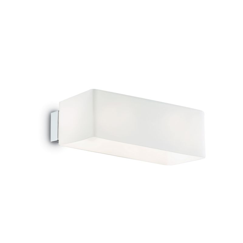 IdealLux-009537 - Box - White Glass Rectangle Up & Down Wall Lamp