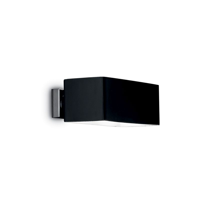 IdealLux-009513 - Box - Black Glass Rectangle Up & Down Wall Lamp