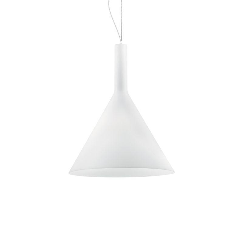 IdealLux-074313 - Cocktail - Big White Glass Single Hanging Pendant