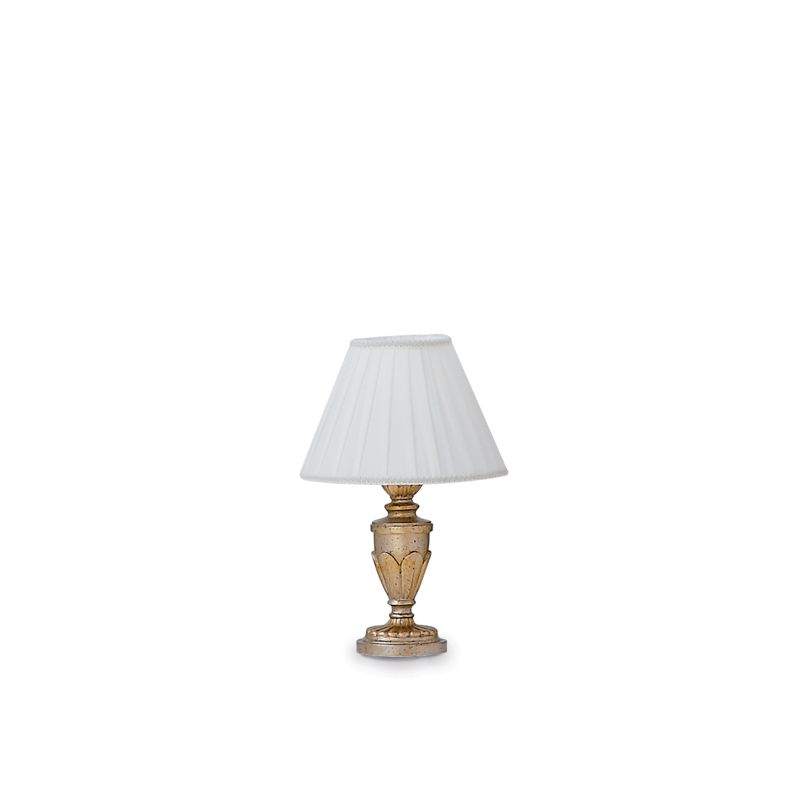IdealLux-020853 - Dora - Antique Gold with Leaf Table Lamp