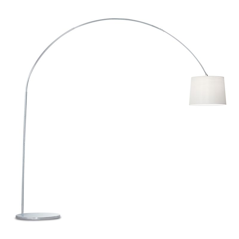 IdealLux-012605 - Dorsale - White Fabric and Chrome Floor Lamp