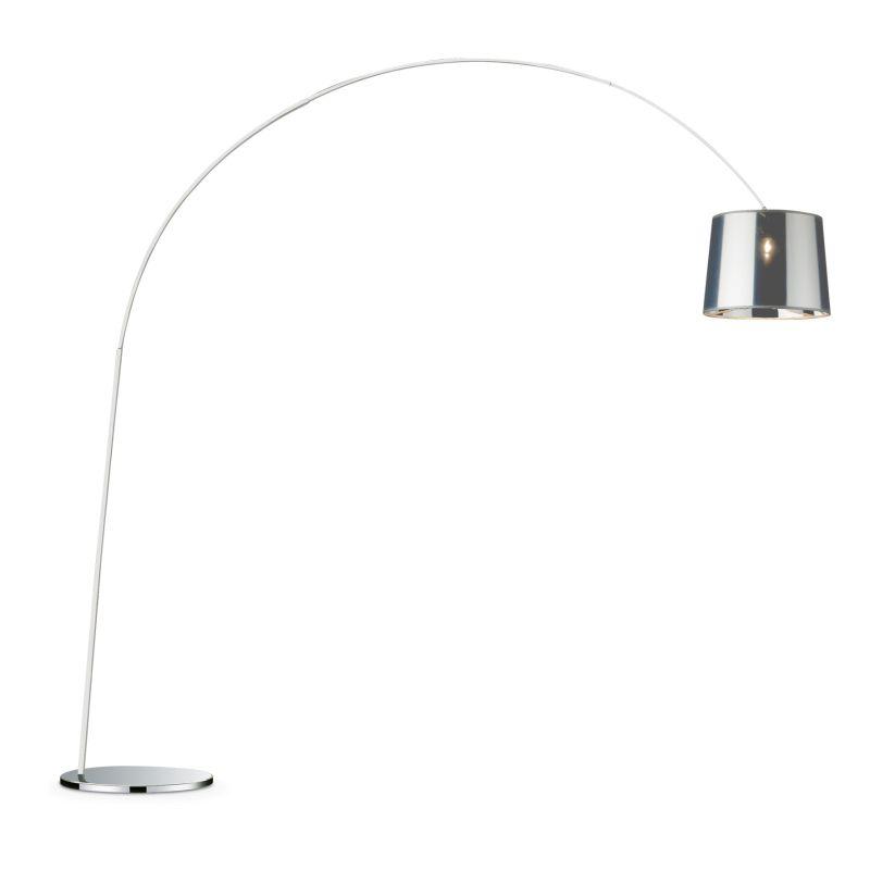 IdealLux-005126 - Dorsale - Transparent Chrome Floor Lamp