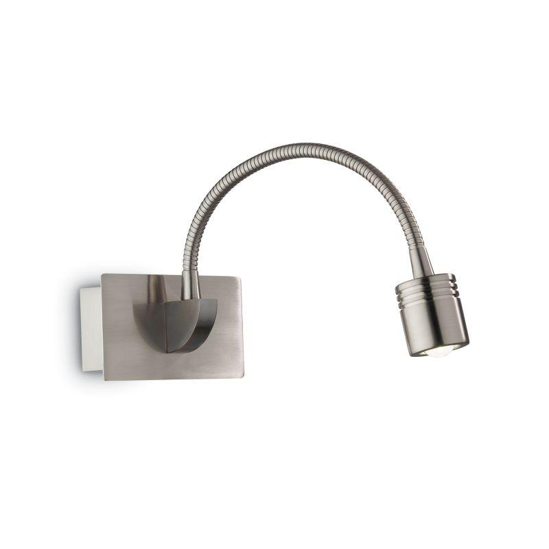 IdealLux-031477 - Dynamo - LED Nickel Metal Bed Side Wall Lamp