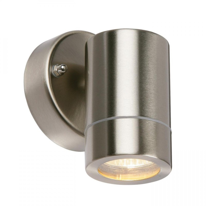 Saxby-13801 - Palin - Brushed Stainless Steel Downlight Wall Lamp