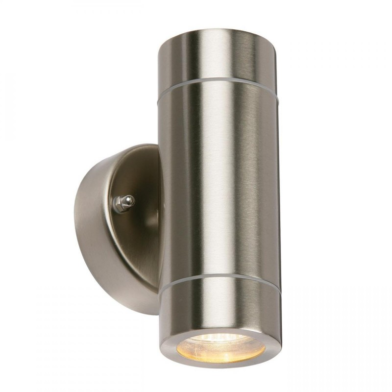 Saxby-13802 - Palin - Brushed Stainless Steel Up&Down Wall Lamp