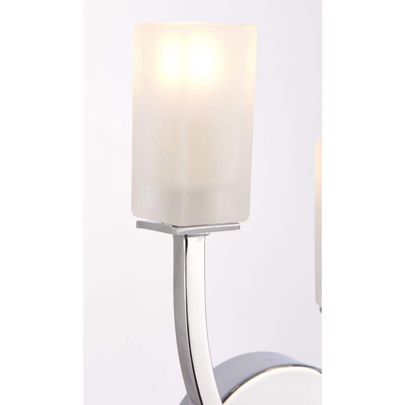 Endon-146-2CH - Havana - Frosted Glass with Chrome 2 Light Wall Lamp