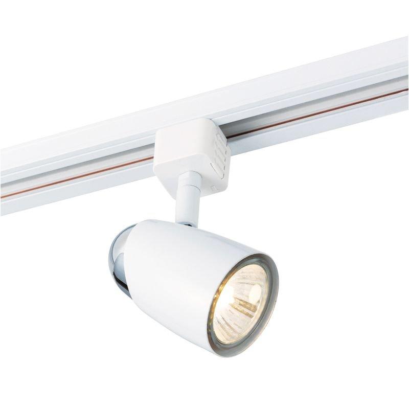 Saxby-42315 - Monte - Gloss White & Chrome Track Head Spotlight