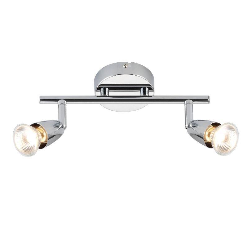 Saxby-43278 - Amalfi - Polished Chrome 2 Light Bar Spotlights