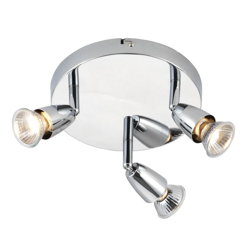 Saxby-43279 - Amalfi - Polished Chrome 3 Light Round Spotlights
