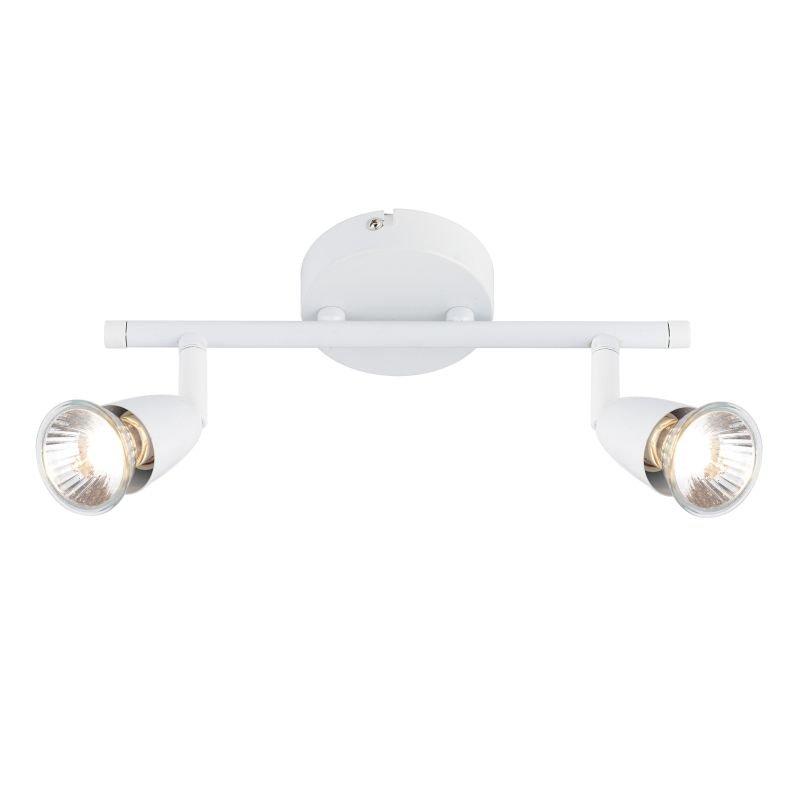 Saxby-43282 - Amalfi - Gloss White 2 Light Bar Spotlights