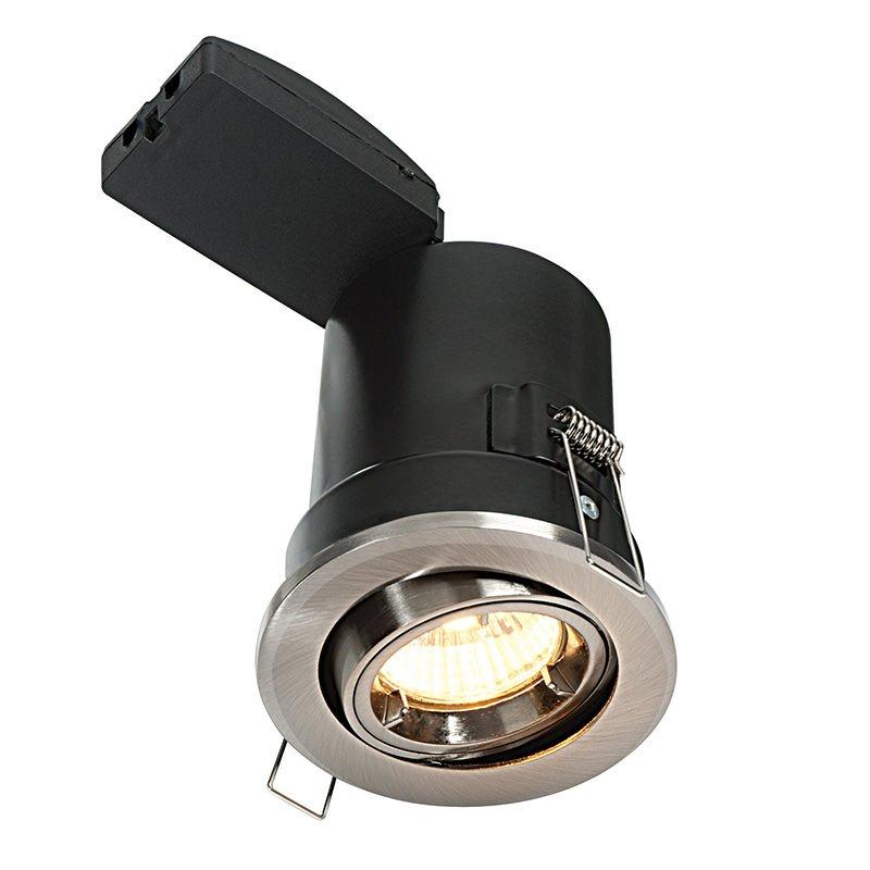 Saxby-50681 - ShieldPLUS Tilt - Adjustable Satin Nickel Recessed Downlight