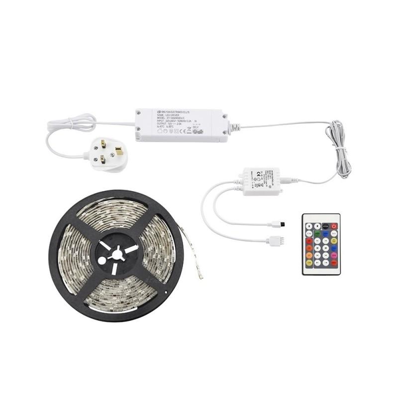 Saxby-51918 - Aqualine premium - LED Multicolours Strip Lighting Kit 5m 24W