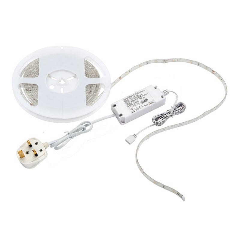 Saxby-52305 - Flexline - LED Warm White Strip Lighting Kit 5m 12W