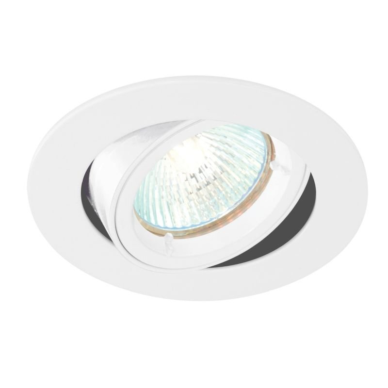 Saxby-52334 - Cast Tilt - Adjustable Gloss White Recessed Downlight