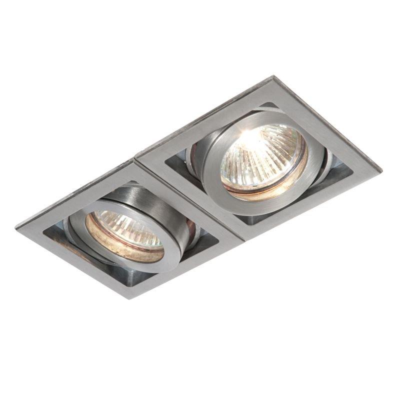 Saxby-52408 - Xeno - Square Aluminium Twin Recessed Downlight