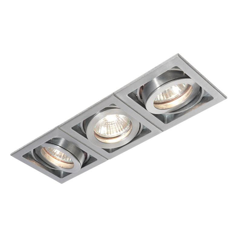 Saxby-52409 - Xeno - Square Aluminium Triple Recessed Downlight
