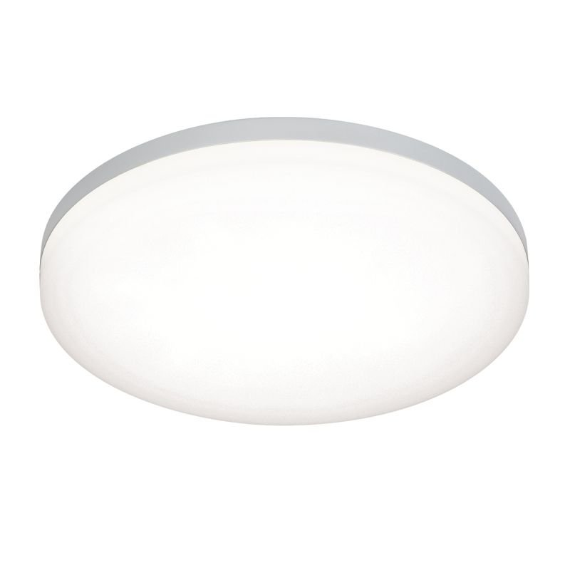 Saxby-54479 - Noble - LED Slim Opal & Silver Flush