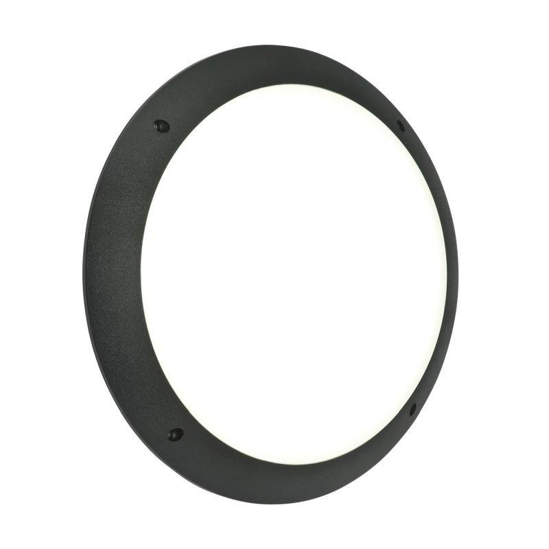 Saxby-55689 - Seran - LED Black & White Plain Bulkhead