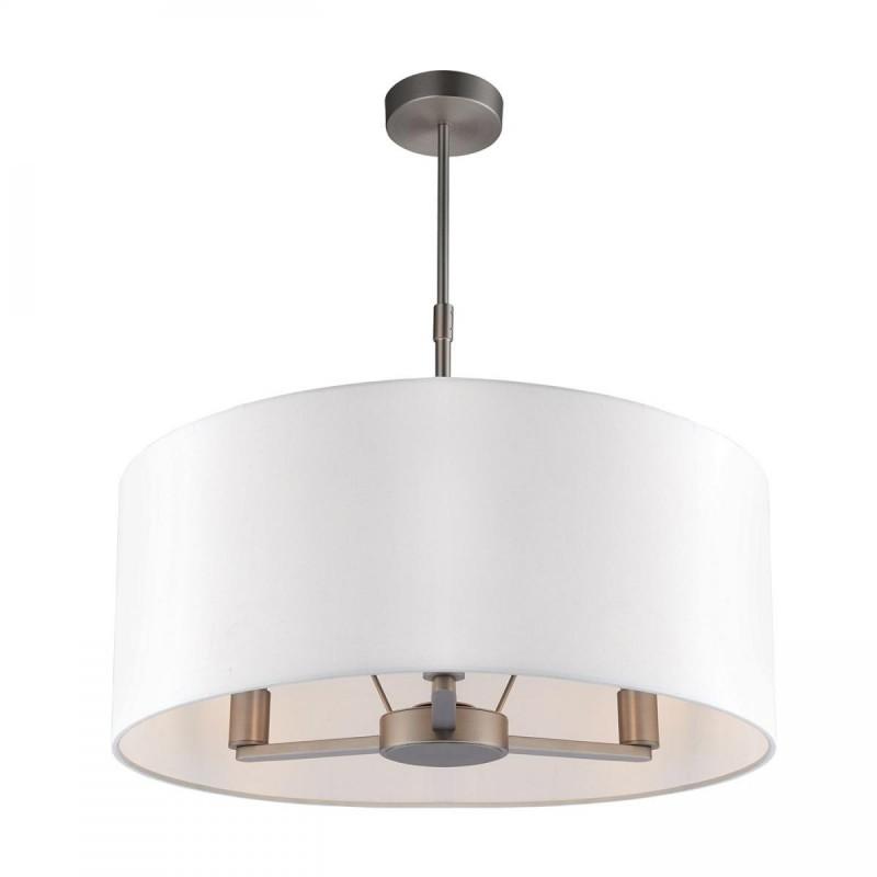 Endon-60241 - Daley - Vintage White & Nickel 3 Light Hanging Pendant