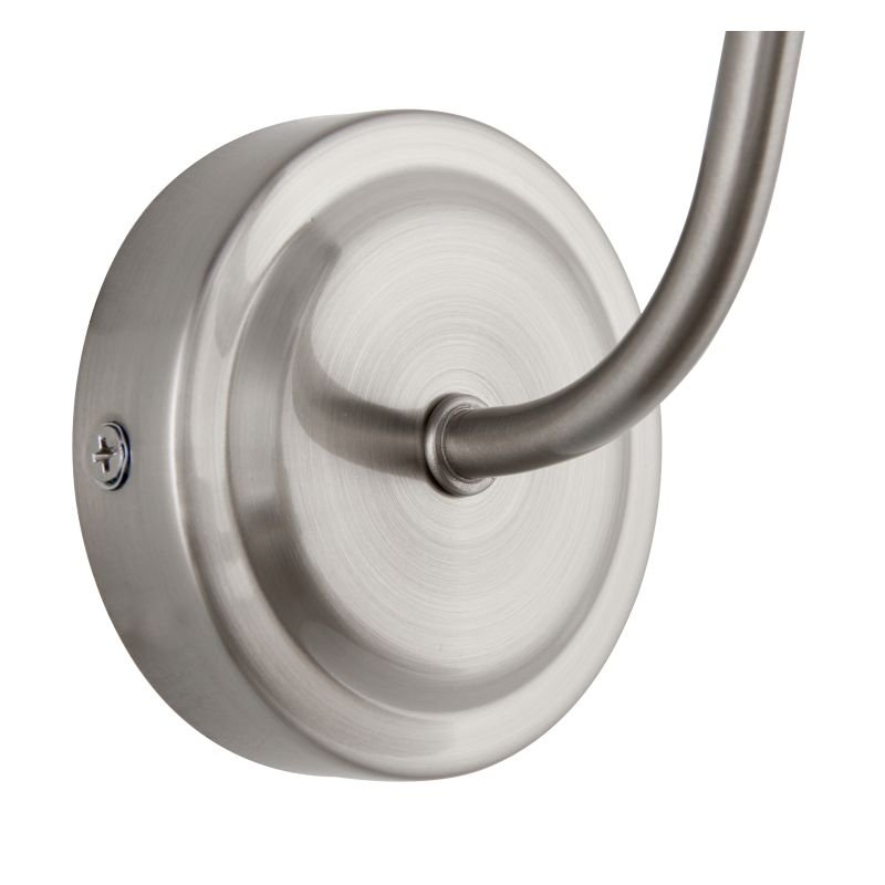 Endon-60800 - Mendip - Satin Nickel Metal with Clear Glass Wall Lamp