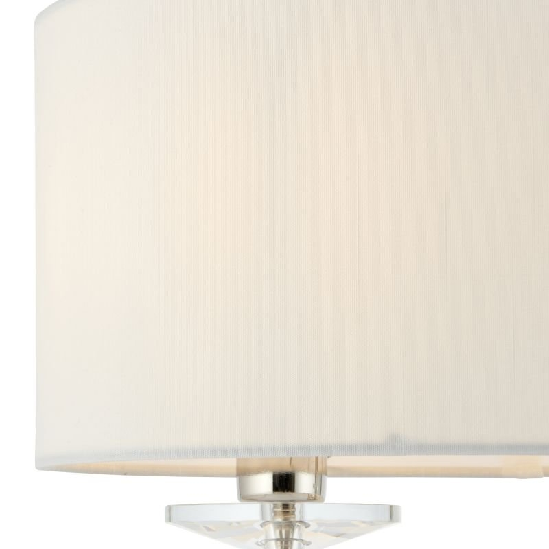 Endon-60804 - Nixon - Vintage White & Nickel with Crystal 2 Light Table Lamp