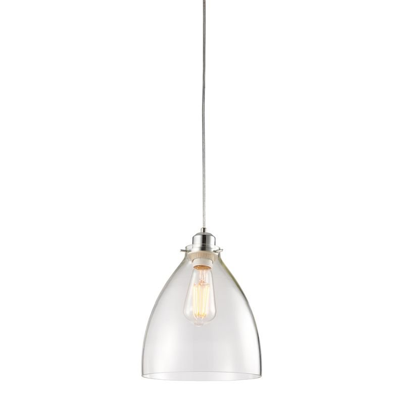 Endon-60874 - Elstow - Clear Glass & Chrome Shade for Pendant