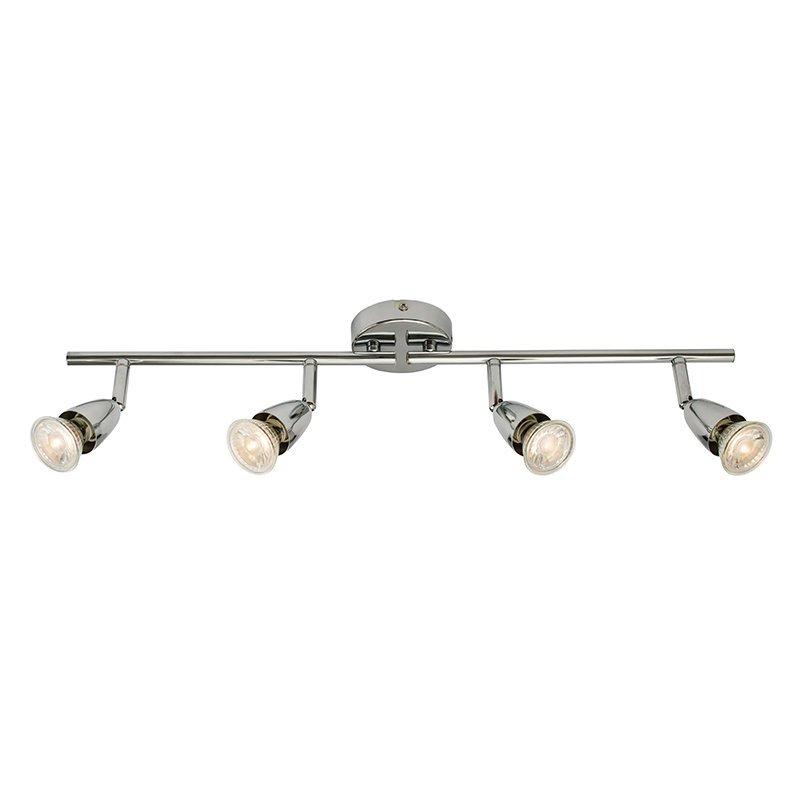 Saxby-60991 - Amalfi - Polished Chrome 4 Light Bar Spotlights