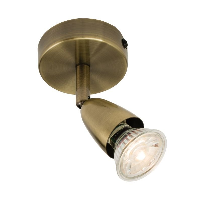 Saxby-60998 - Amalfi - Antique Brass Single Spotlight