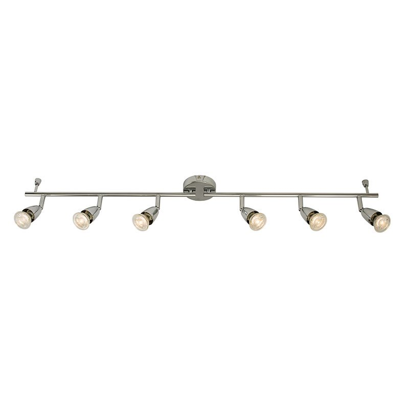 Saxby-61000 - Amalfi - Polished Chrome 6 Light Bar Spotlights