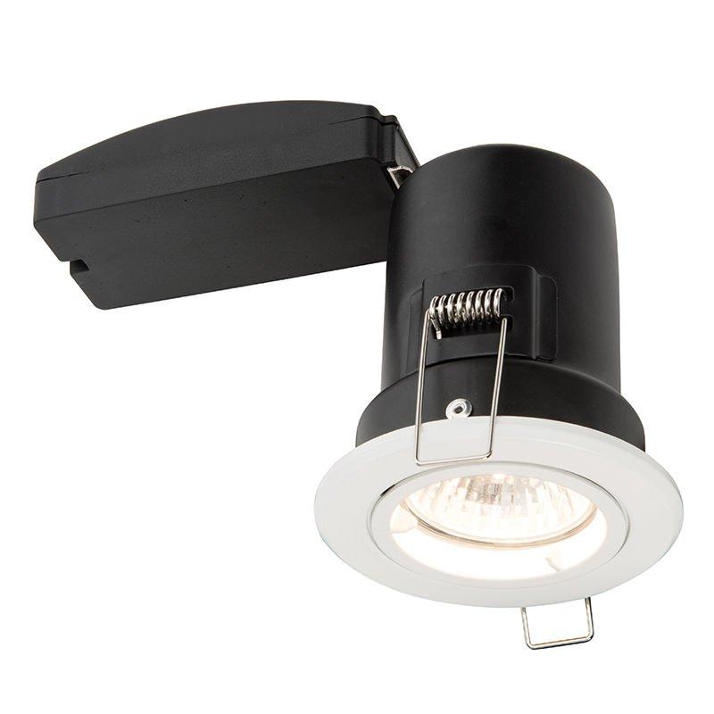 Saxby-61059 - ShieldPLUS Fixed - Matt White Recessed Downlight